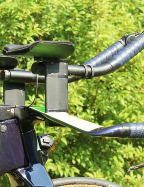 Like Di2, Campagnolo EPS uses buttons on the brake levers for shifting, but has electronic levers on the extensions