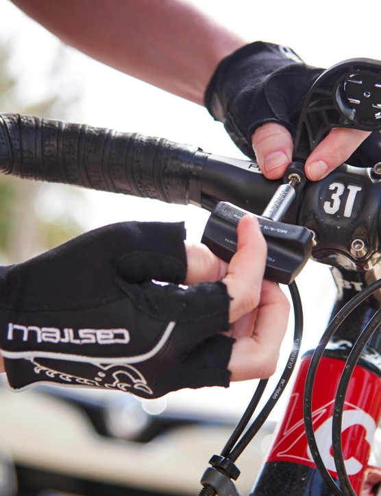 Swapping out your stem for a shorter model can decrease your reach, making you less stretched out over the bike