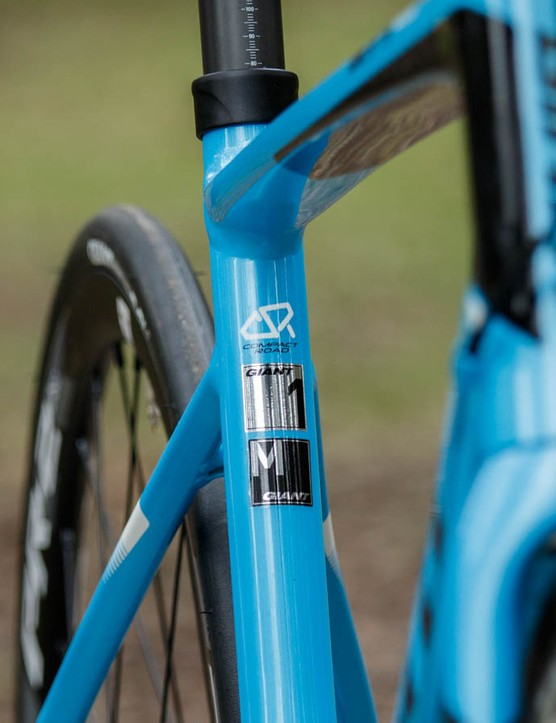 Giant's compact road frame sizing means that traditional frame size measurements don't hold true, so use the effective top tube measurement if comparing to other bikes