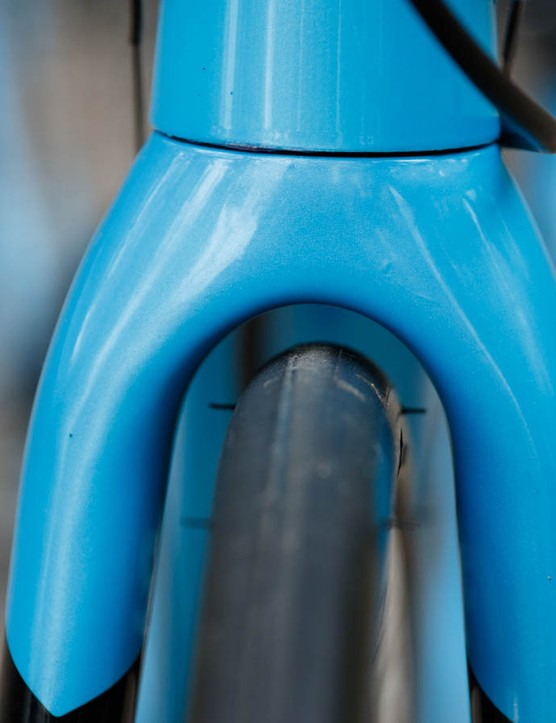 A look at the clearance offered in the front fork...