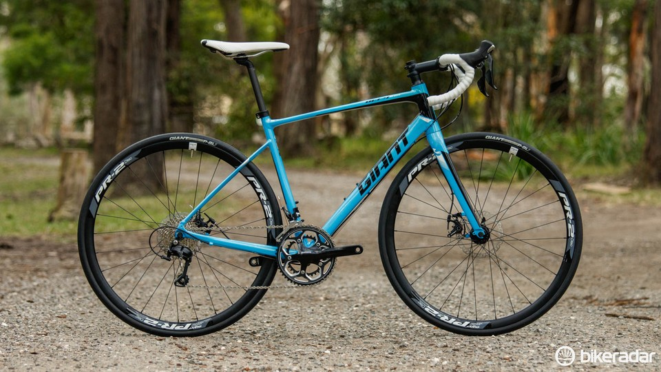 753d18934c5 The 2016 Giant Defy 1 Disc road bike is an impressive option for the money