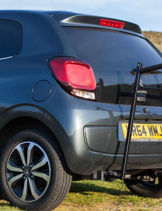 Easily removed in seconds, the arms fold down to easily fit within the car's boot