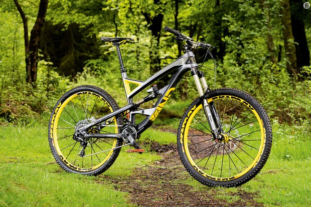 YT Industries' Capra CF Pro Race advertises its aggressive credentials from the paint job onwards