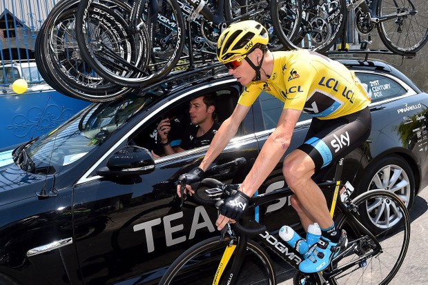 Chris Froome (Team Sky) won stage 10 at the Tour de France