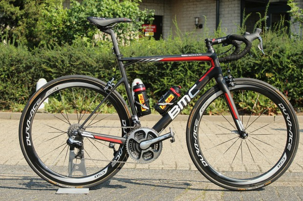 Tejay van Garderen is riding this BMC Teammachine SLR01 in second place at the Tour de France