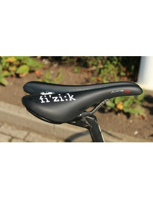 Saddles with cutouts are becoming more common in the pro peloton. This is Fizik's Aliante VSX