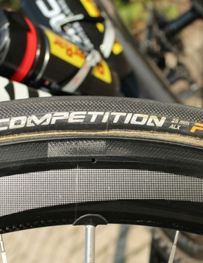 23mm tubulars are increasingly rare. Most riders like Van Garderen have 25mm as the go-to width