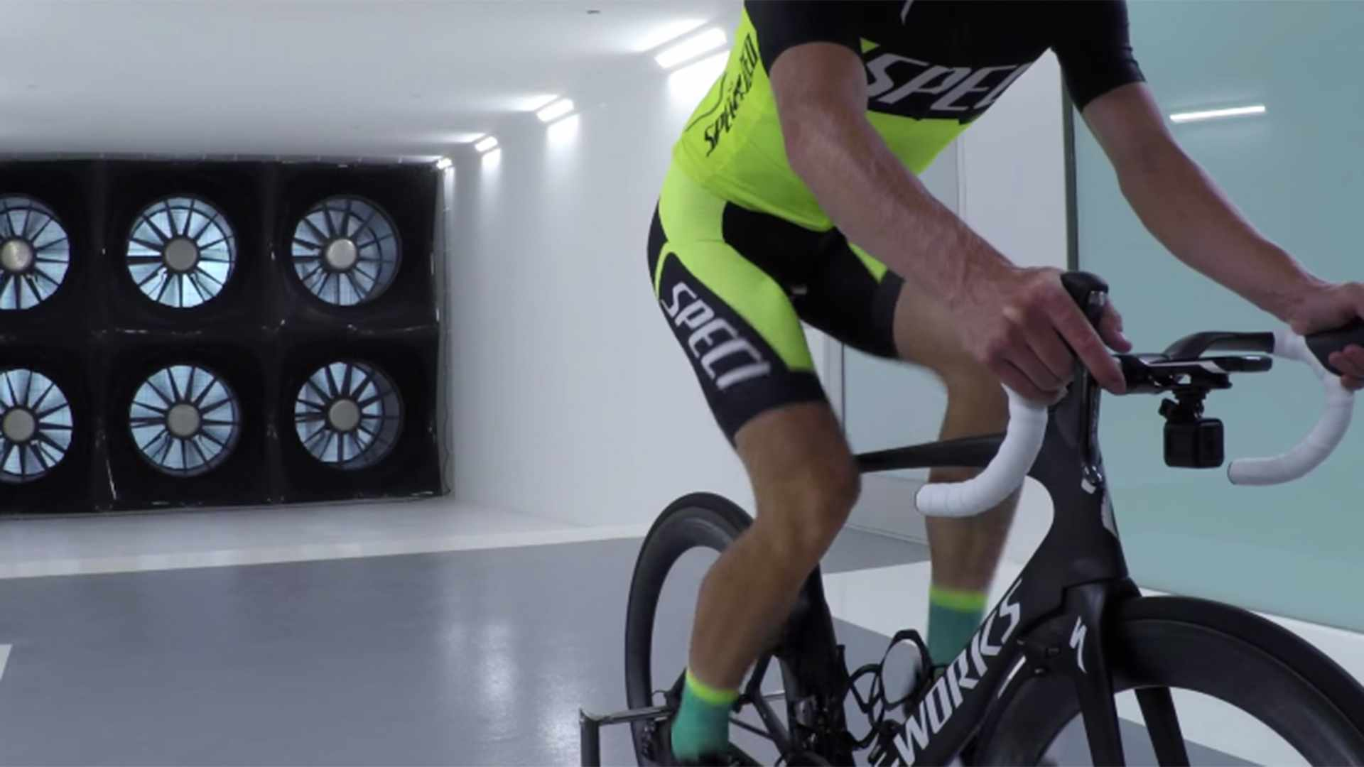 Specialized used its own wind tunnel to determine the aerodynamic penalty of carrying a GoPro camera