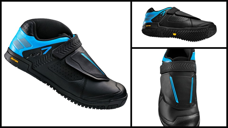 f4db4cf71ae The new Shimano AM7, a flat pedal shoe developed in conduction with the  Athertons
