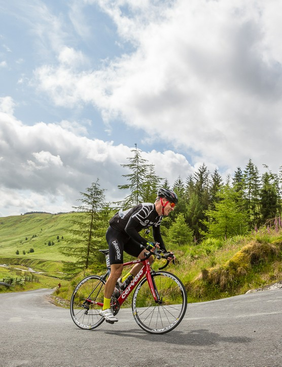 I rode The Monster sportive in Wales with its 4,200m of climbing on a Cervélo S3 with a 52/36 Rotor crankset