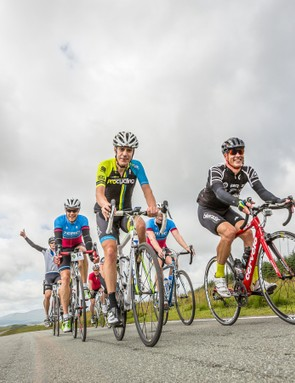 Riding 120mi is always more fun —and a lot faster —with a good group
