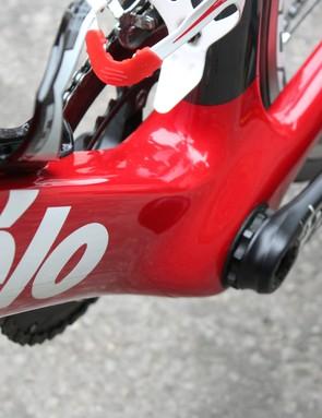 The massive BB provides a rugged pedaling platform