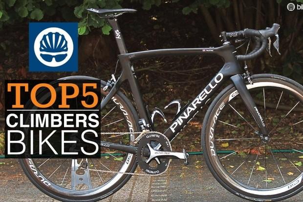 Top 5 TdF climbers' bikes