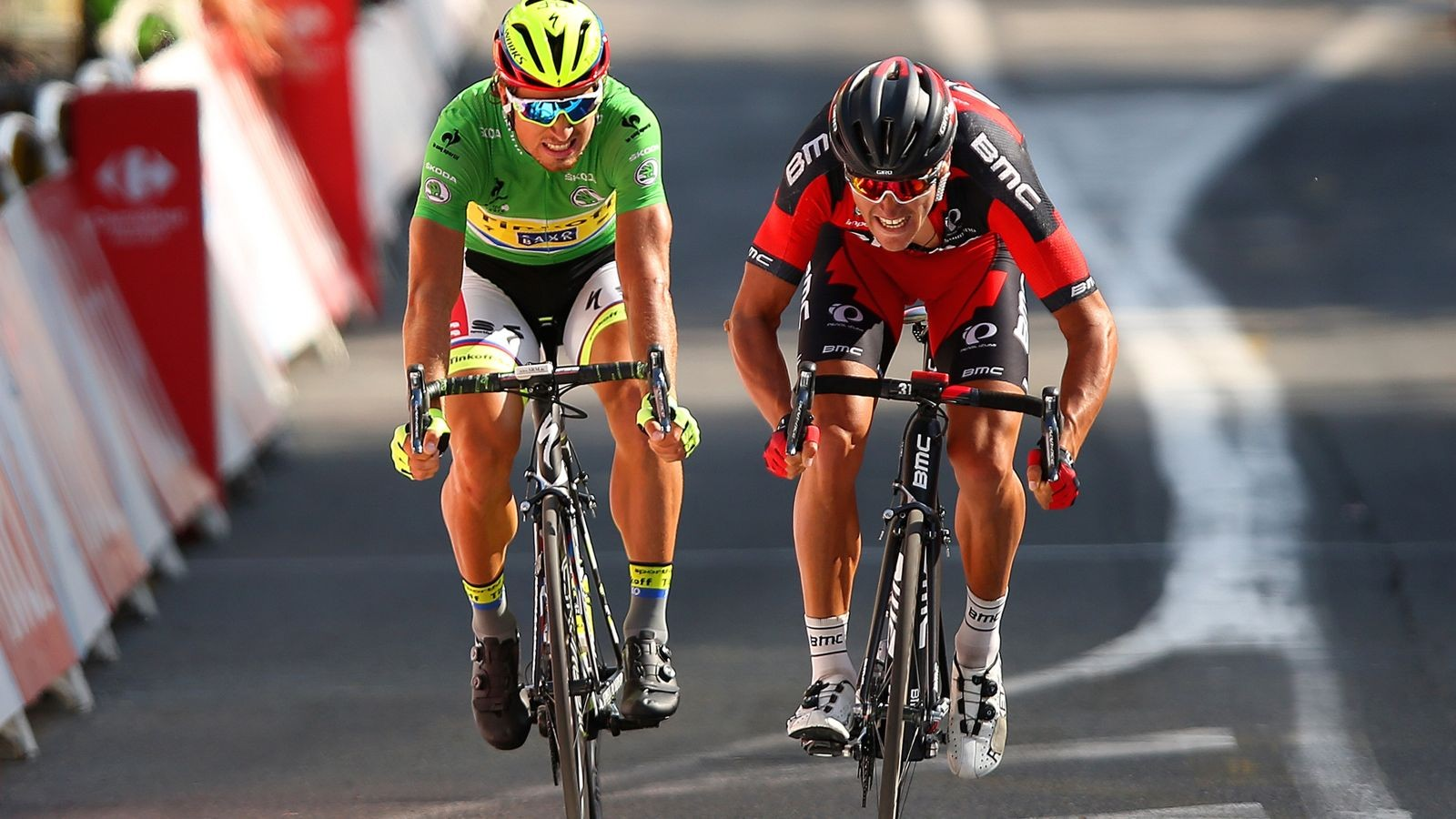 Greg Van Avermaet wins stage 13 of the 2015 Tour de France ahead of Peter Sagan