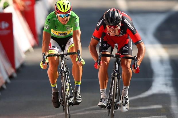 Greg Van Avermaet wins stage 13 of the 2015 Tour de France ahead of Peter Sagan