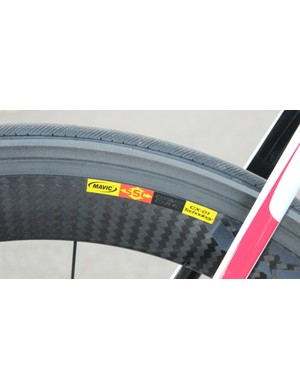 Banned from professional racing, Mavic's Blades snap into place between the tire and the wheel