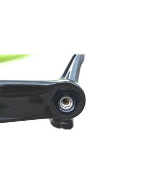 The Zed2 cranks can be set to 170, 172.5 or 175mm with the rotation of this triangular insert