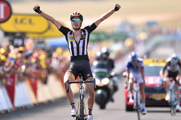 Steven Cummings (MTB-Qhubeka) made history at the Tour de France with a victory on Stage 14