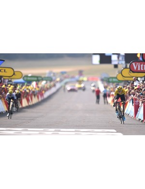 Chris Froome (Team Sky) remains in yellow after a hard-fought battle with Nairo Quintana (Movistar) on the final ascent