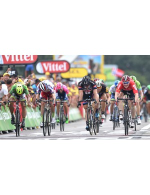Andre Greipel (right) gets the win on stage 15