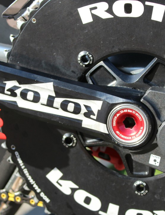 Rotor now has a few power meters: two-sided, one-sided and the new bottom bracket model. This is the two-sided Power