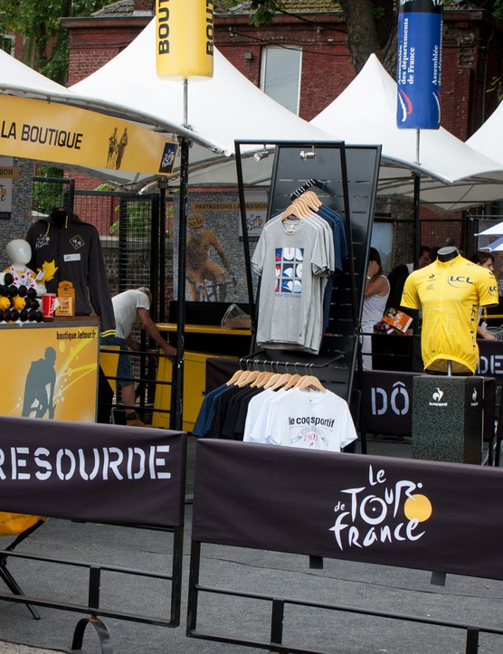 Not everything's free – Tour memorabilia is available at La Boutique