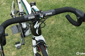 Even the world's best pros are starting to turn to compact reach handlebars (pictured is Lars Boom's bike)