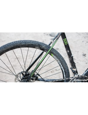 Curved and flattened seatstays are there to promote vertical flex for comfort