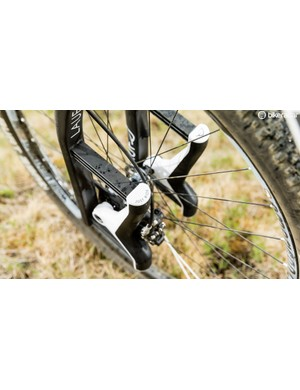 The glass fibre leaf springs provide suspension, but there's no rebound damping