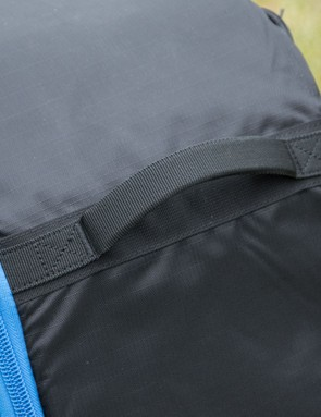 Reinforced material handles are placed all over. We found them comfortable in use