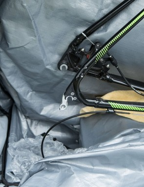 The pictured cyclocross bike shows just how much space there is for far longer and larger rides