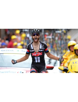 Stage 17 was Geschke's first grand tour stage win