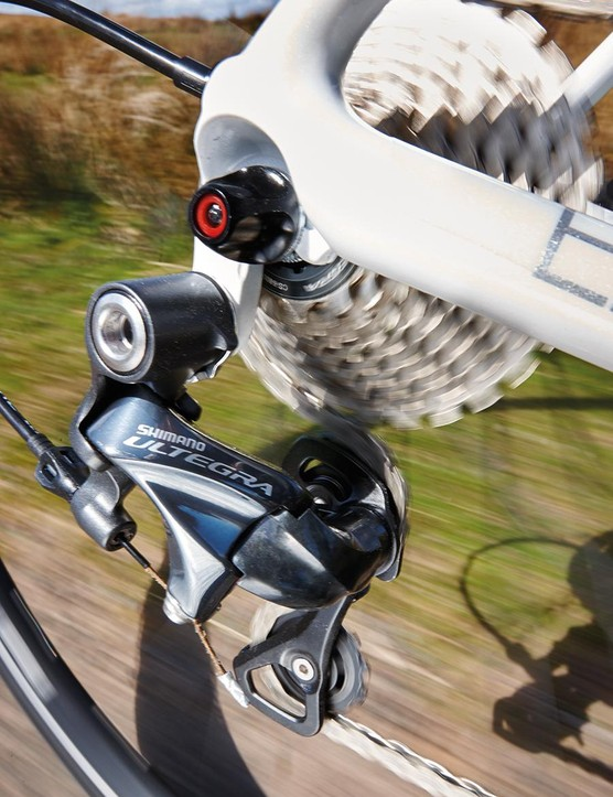 Ultegra weighs a tad more than Dura-Ace but it's close to it in performance