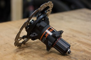 The disc-specific version of PowerTap's new G3 hub includes a brake rotor (no pictures of the new G3 non-disc hub)
