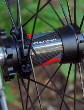 Six-bolt rotor interfaces are standard but both hubs can easily be switched to thru-axle fittings