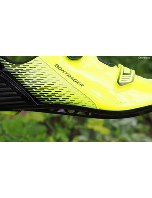 Fibre-reinforced nylon soles usually aren't terribly stiff but the truss-like shape that Bontrager uses on the Specter definitely helps