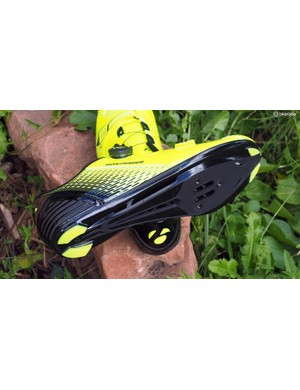 The Bontrager Specter soles are impressively stiff, although the extra structure does add some stack height