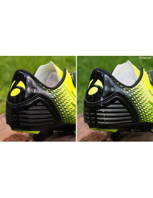 Reflective details on the heel aid in nighttime visibility