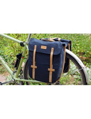 Dutch cycling accessories company Basil has finally made it to US shores. These Portland Slim Fit panniers are definitely very eye catching