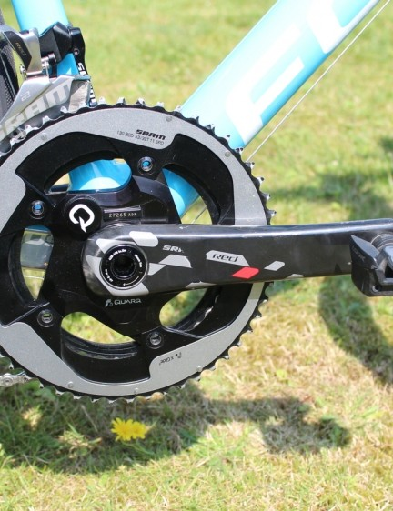 A Quarq power meter on the 175mm SRAM Red cranks