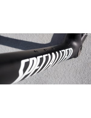 The down tube is truly massive, and closely matches that of Specialized's lighter (but far more expensive) Tarmac family