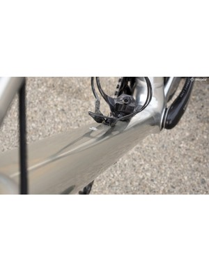 The massive down tube bodes well for overall frame stiffness