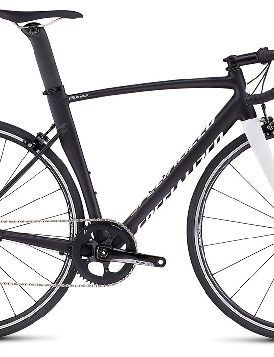 Kudos to Specialized for wrapping all of the new Allez Sprint options in pleasantly understated paint schemes. This Allez Sprint Comp will come with SRAM's Rival 1 groupset