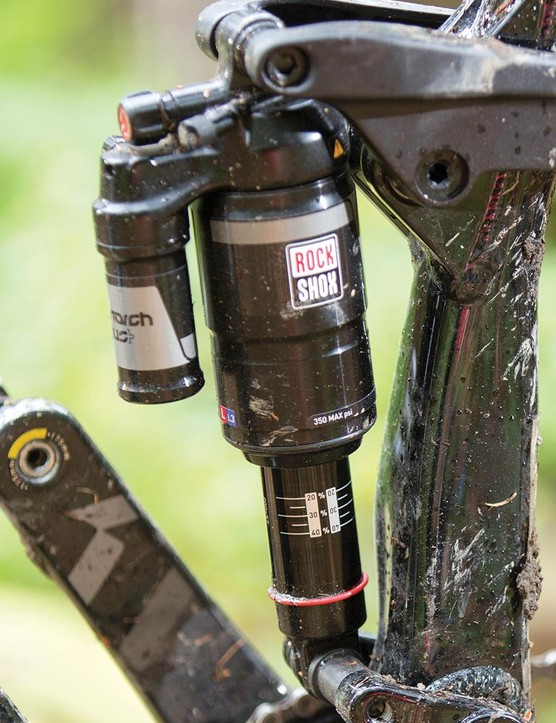 We rarely felt the need to flick the compression lever on the RockShox shock