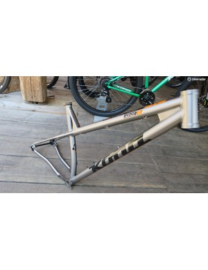 For those who like their bikes a little spanglier, the titanium Honzo. If you're after a 27+ Honzo, the plated stays should just about give clearance