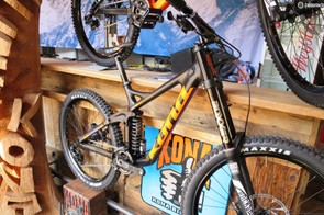 Still on 26in wheels – and now Kona's only carbon mountain bike – the Operator Supreme