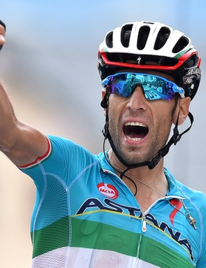 Last year's overall Tour de France winner, Vincenzo Nibali (Astana), won Stage 19 of this year's race in a daring solo attack