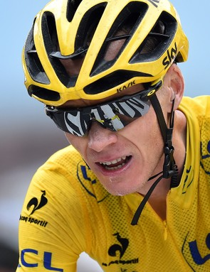 Chris Froome (Sky) conceded time to Nairo Quintana (Movistar) today but remains in yellow
