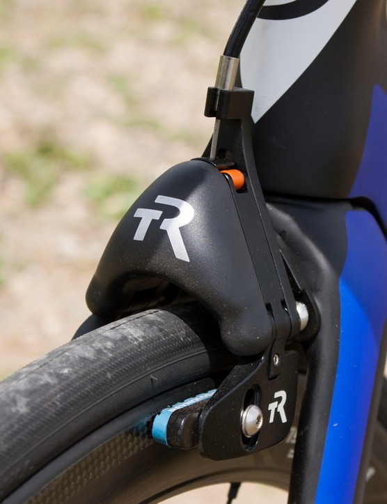 The TriRig Omega X brake is ultra light and aero, yet packs a huge amount of stopping power