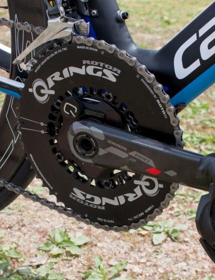 The Quarq SRAM Red 22 power meter helped avoid overcooking the bike leg